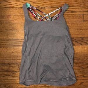 Lululemon Open Back Tank w/ Built In Bra LIKE NEW